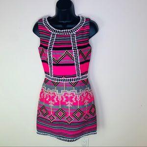 MILLY   Aztec Geo- Print Shift Dress